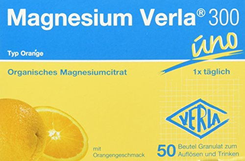 Magnesium Verla Granulat 300 mg orange , 50 Stück
