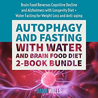 Autophagy and Fasting with Water and Brain Food Diet: 2-Book Bundle audiobook cover art