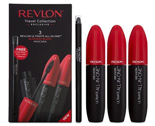 Revlon Ultimate All In One Mascara Geschenkset 3 x 8.5ml Mascara + Colorstay Eyeliner Black