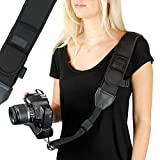 USA Gear DSLR Camera Strap with Adjustable Shoulder Sling in Neoprene, Accessory Pocket