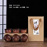 Ksnrang Horno de té de cerámica del Horno Regalo Monockery Horno Productos Copa de la Taza de Propietario de la casa Publicidad de Igogo Personalizada-Caja de Regalo de la Taza de Oro Anti-Boca 6