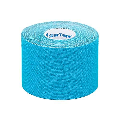 SL StarTape Kinesiologie Tape Blau - Sporttape Pflaster 5 cm breit und 550 cm lang - Sport Bandage - Verband zum Tapen
