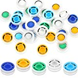 30 Pieces Water Flow Restrictor 1.5/ 1.8/ 2.0/ 2.5/ 3.0 GPM Shower Water Flow Reducer Shower Water Control Valve Shower Head Limiter Set for Water Saving Fixed Shower Head (0.57 x 0.6 x 0.2 Inch)