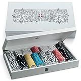 Juego- Cofanetto Carte Poker con Fiches, Colore Albus Grifone, JU00082...