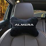 MARHOOK Almohada para El Cuello del Coche, Silla De AlgodóN para El Coche, Almohada De Seguridad para El Cuello, Accesorios Interiores del Coche, para Nissan Almera G15 N16