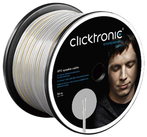 Clicktronic HC SPC 340-50 Premium Series - Cable para altavoces (2 x 4 mm², 50 m)