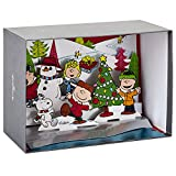 Hallmark Peanuts Paper Craft Boxed Christmas Cards, Pop Up Winter Scene (5 Cards with Envelopes)