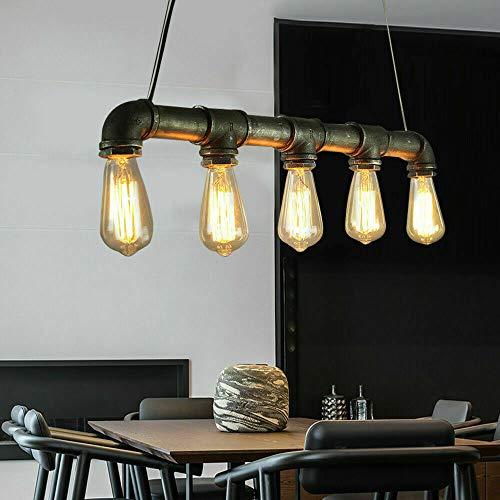 Tubo de agua Lámpara colgante industrial loft retro vintage lámpara colgante metal...