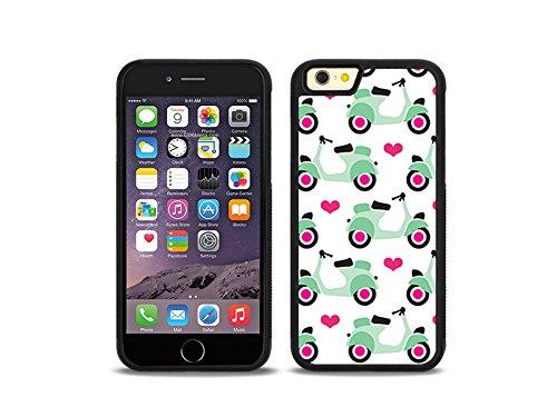 etuo Handyhülle für Apple iPhone 6 - Hülle Hybrid Fantastic - Pastell-Motorroller - Handyhülle Schutzhülle Etui Case Cover Tasche für Handy