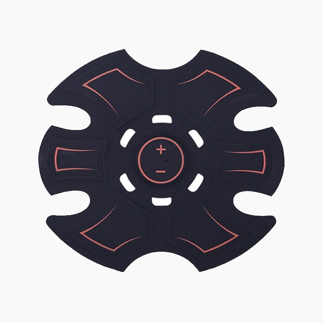 追跡水分折るGBR- 2018ホットセールEMSフィットネスマッサージリラックスマッサージアブ腹筋マッサージ(黒)