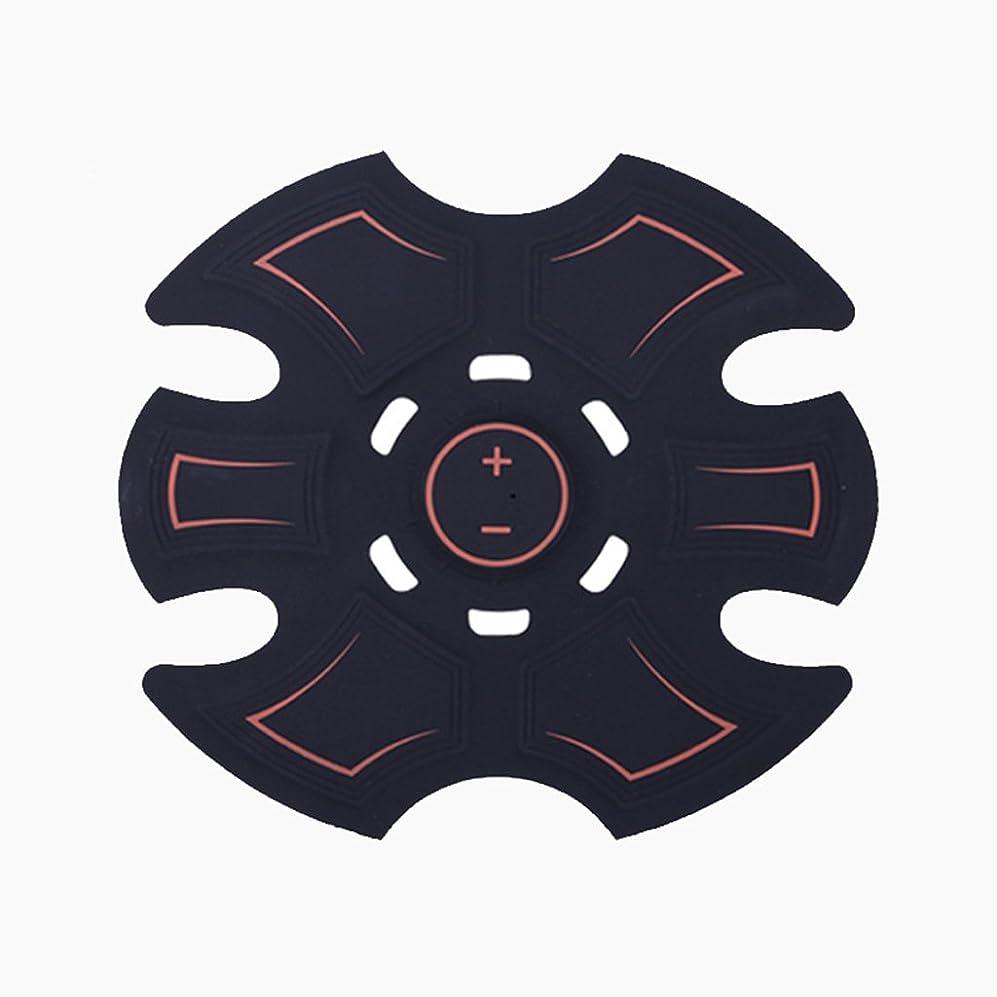誇り反発警報GBR- 2018ホットセールEMSフィットネスマッサージリラックスマッサージアブ腹筋マッサージ(黒)