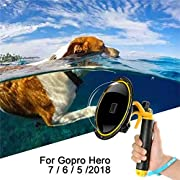 For GoPro Dome Port, For Gopro Hero 7 6 5 2018 Black Dome GoPro Accessories Underwater Dome Lens Cover Waterproof Housing Case Diving Super Suit with Pistol Trigger for Action Camera