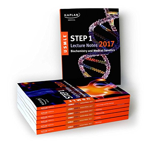 USMLE Step 1 Lecture Notes 2017: 7-Book Set (Kaplan Test Prep)
