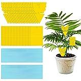 40 Trampas Adhesivas Amarillas para Moscas Trampas para Mosquitos Atrapamoscas de Papel para Atrapar Plagas Como Insectos de Moscas de La Fruta Y Mosquitos para Uso en Interiores O Invernaderos