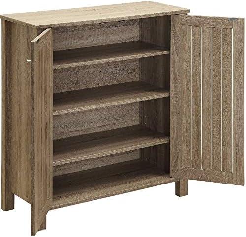 Fees free BOWERY HILL 4 Shelf Shoe Organizer in Dark Cabinet High quality new Rack Storage