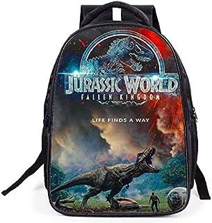 Children's cartoon school bag 16-inch Jurassic dinosaur schoolbag backpack