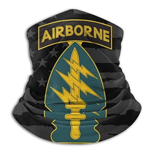XXWKer Microfibre Chapeaux Tube Masque Visage Tour de Cou Cagoule, Army Special Forces Unit Fleece Neck Warmer Neck Warmer Winter Neck Warmer