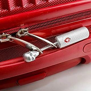 Skull TSA Approved Luggage Suitcase Security Padlock Travel Lock key locker Ultra-Secure Dimple Locks