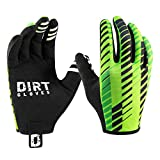 Dirt Gloves Mountain Bike Gloves MTB Bicycle Enduro Downhill XC Cycling Sports Full Finger (Large, Huck Green)