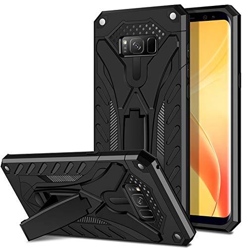 Coolden für Samsung Galaxy S8 Plus Hülle Outdoor Stoßfest Schutzhülle mit Ständer Dual Layer Hard PC + TPU Bumper Military Grade Handyhülle für Samsung Galaxy S8 Plus (Schwarz)