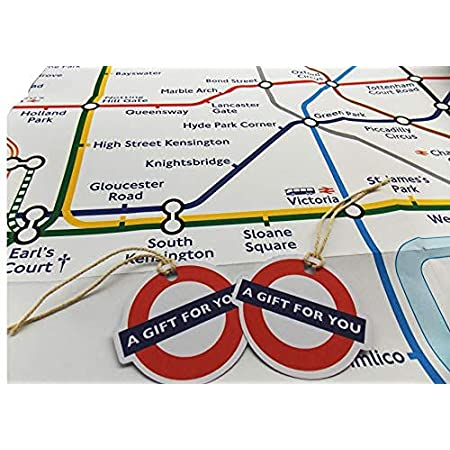 London Underground Tube Map Wrapping Paper and Tags Souvenir Giftwrap