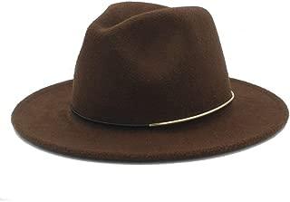 Men Women Wool Winter Fedora Hat Pop Wide Brim Church Fascinator Hat Casual Wild Hat Size 56-58CM` TuanTuan (Color : Coffee, Size : 56-58)