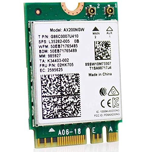 Timagebreze WiFi6 M.2 Module AX 3000Mbps Network with 5.1 Wi-Fi 6 Card 2.4G/5Ghz 802.11Ax MU-MIMO