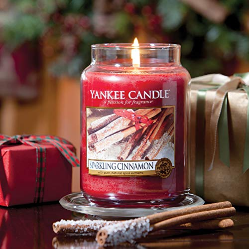 Yankee Candle Candela profumata in giara grande | Cannella Vivace | Durata Fino a 150 Ore