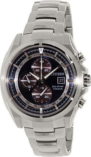 Relógio masculino Citizen Eco-Drive CA0550-52L prata titânio Eco-Drive