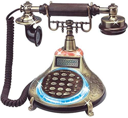 DHFDHD Teléfono Antiguo Teléfono Fijo Teléfono Fijo-Botón de Resina de la Vendimia Digital Retro casa de antigüedades con Cable