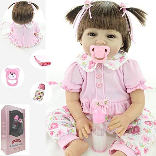 ZIYIUI Bambola Reborn Femmina 22'' 55cm Bambole Reborn Bambino Realistica Morbido Silicone Vinilico Simulazione Fatto a Mano Ragazza Ragazzo Giocattoli Regalo di Natale