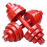 OESFL Pesos Ajustables Carga Pesa de Gimnasia Conjunto Dumbbell Set Home Fitness Equipment Ajustable con Mancuernas Ejercicio y la Aptitud Pesas 1 Par (Color : Red, Size : 15kg (7.5 kg*2))