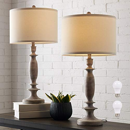 29'H Table Lamp Set of 2 for Living Room or Bedroom, 9.5W LED Bulbs Included, Large Tall Farmhouse...