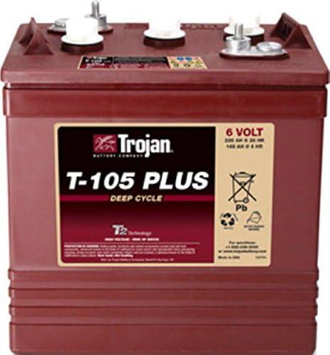 4 X Trojan Battery T-105 Plus 6v Deep Cycle Flooded