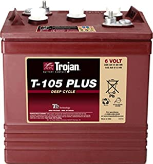 4 X TROJAN BATTERY T-105 PLUS 6V DEEP CYCLE FLOODED 225 Ah.