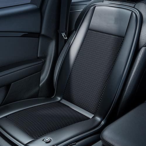 Cojín de asiento de autos de enfriamiento 12V cubierta de asiento refrigerado transpirable con ventilador cómodo aire acondicionado asiento 15s fresco abajo para los viajes por carretera de ve