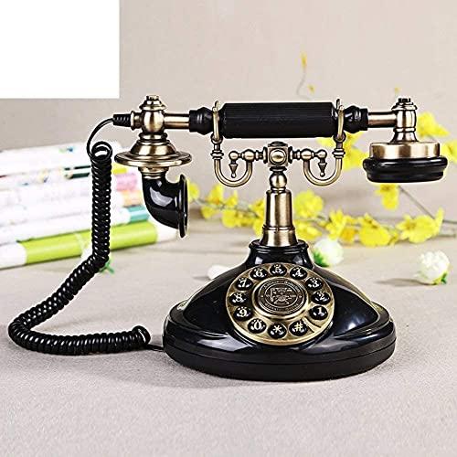 KMILE Decorativo Teléfono Teléfono Inicio Oficina Estilo Nórdico Européen, Antiguo, Téléphone [Rétro], Decoración, [Classique], Antiguo, Cordon-A Vintage