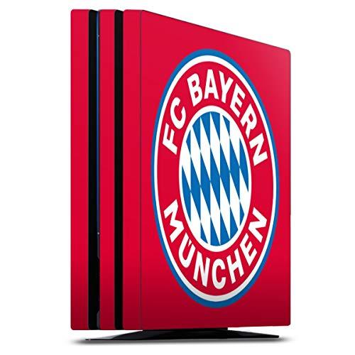 DeinDesign Skin kompatibel mit Sony Playstation 4 Pro Folie Sticker FC Bayern München FCB Logo