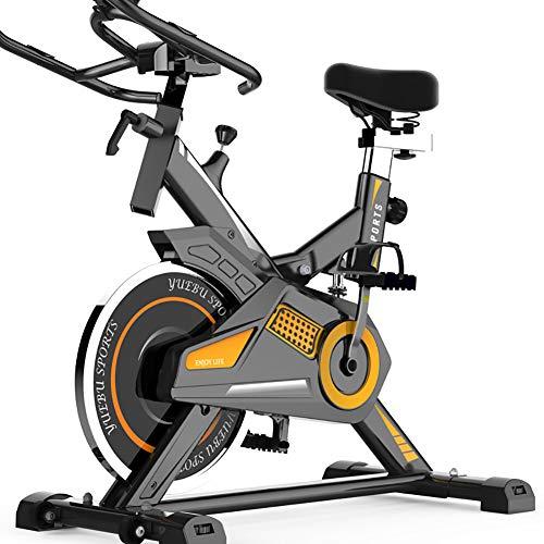 QQLK Sports Cyclette Aerobica da Spinning Allenamento - Indoor Fitness Cardio Spin Bike - con Display Multifunzione