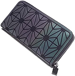 Geometric Rhombus Mobile Phone Bag Luminous Colorful Wallet Card Pack Colorful C