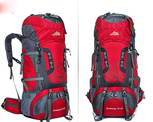 Nouveau sac d'alpinisme extérieur professionnel voyage cadre extérieur imperméable de sac à dos du sac à dos grande capacité , red