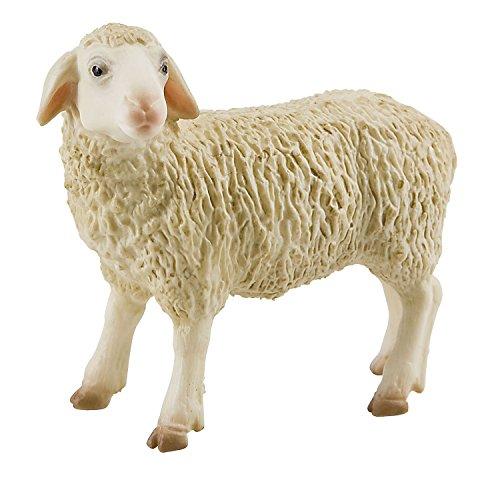 Bullyland 62320 - Spielfigur, Schaf, ca. 6,8 cm, ideal als Torten-Figur, detailgetreu, PVC-frei, tolles Geschenk für Kinder zum fantasievollen Spielen