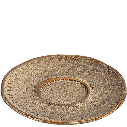 LEONARDO HOME 018602 MATERA Lot de 4 sous-tasses en céramique Beige 11 cm