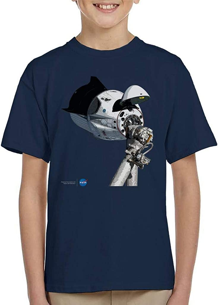 NASA SpaceX Dragon Capsule at The ISS Kid's T-Shirt