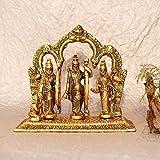 New Crafted Handcrafted Brass Lord Ram Darbar Murti   Rama Sita Lakshman Hanuman Statue for Puja Mandir Home & Office Décor(Gold)