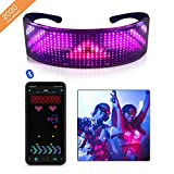 MaquiGra Gafas LED Control App Bluetooth Gafas Intermitentes...