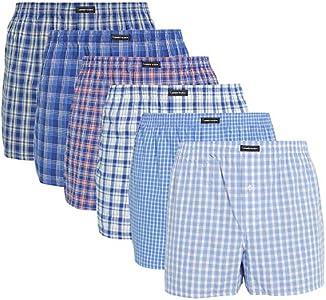 Lower East American Style, Bóxer, Hombre (Pack de 6), Multicolor (Business), X-Large