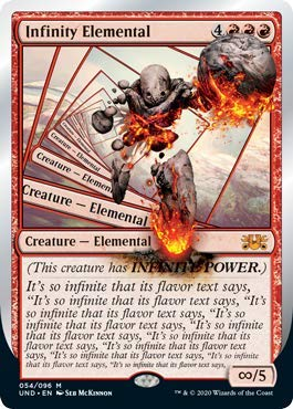 Magic: The Gathering - Infinity Elemental - Unsanctioned