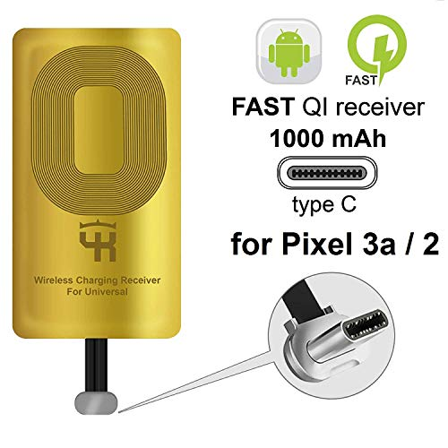 Price comparison product image QI Wireless Receiver Type C for Google Pixel 3A XL 2 2XL - Wireless Charging Adapter - Pixel Wireless Charging Receiver