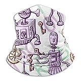 qulia Lindo Reloj Extraterrestre de Metal Llave Antigua detrás de la Carta Fondo Calentador de Cuello Invierno Fleece Neck Gaiter Ski Tube Bufanda para Hombres Mujeres Clima frío Cubierta de la Cara